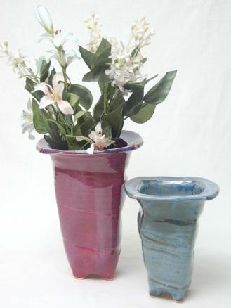 squared vases