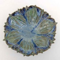 carved iris bowl